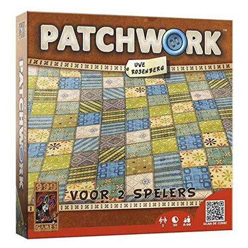 999 Games - Patchwork Bordspel - vanaf 8 jaar - Een van de beste spellen van 2015 - Uwe Rosenberg - Tile placement - voor 2 spelers - 999-PAT01, meerkleurig