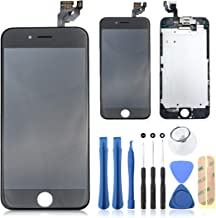 sontakukou iPhone6S Black New LCD Display Touch Screen Digitizer Assembly Screen Replacement with Front Camera Ear Speaker and Repair Tools Kit