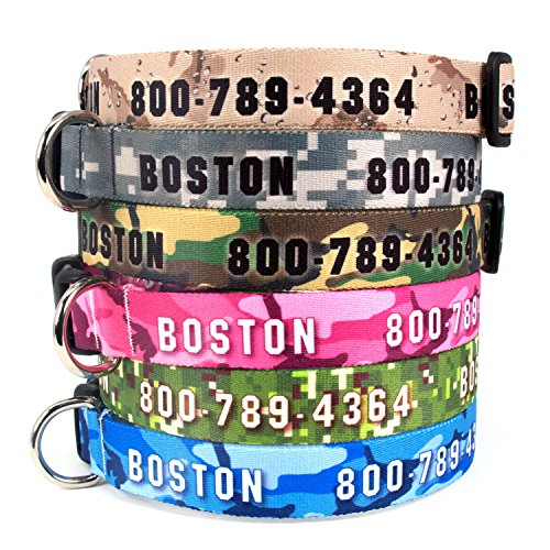 Buttonsmith Camo Dog Collar - Fadeproof Permanently Bonded Printing, Military Grade Rustproof Buckle, Resistant to Odors & Mildew, Choice of 6 Sizes, Made in The USA
