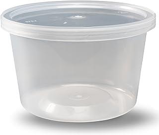 ظروف Deli با درب ، 16 اونس. نشت ضد آب - بسته ای از 40 پلاستیک قابل نگهداری مایکروویو قابل پاک مواد غذایی BPA رایگان ، با کیفیت عالی - توسط DuraHome
