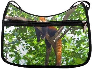 Hermoso lindo Panda rojo Animal Messenger Bag Crossbody Bag Large Durable Hombro School o Business Bag Oxford tela para hombre para mujer