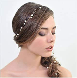 Yalice Wedding Hair Accessories Bridal Headband Hair Piece with pearl for Bride and Bridesmaids