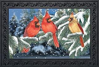 Briarwood Lane Winter Cardinal Trio Doormat Seasonal Birds Indoor Outdoor 18