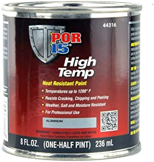 POR-15 44316 Aluminum High Temp Paint - 8 fl. oz.