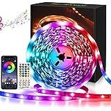 Maxsure Tiras LED 10M, Tira LED Bluetooth RGB 5050 Iluminación con 300 LED con Control Remoto de 40 Teclas y la App, Control Musical Inteligente RGB, Decoración para Hogar (No Impermeable)