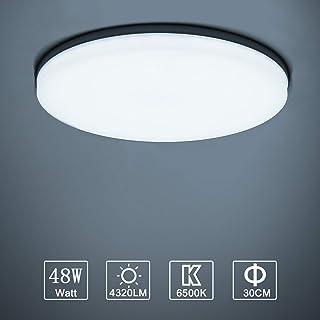 comprar comparacion Yafido LED Lámpara de Techo Moderna 48W Plafón Led Redonda Ultra Delgado Downlight Blanco Frío 6500K 4320LM adecuada para ...