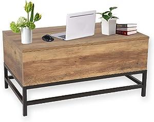 MAIMAITI Tavolino da caffè,per Salotto e Camera da Letto,può Tavolino sollevabile. B48 * T80 * H40-54CM Stile Moderno (Legno)