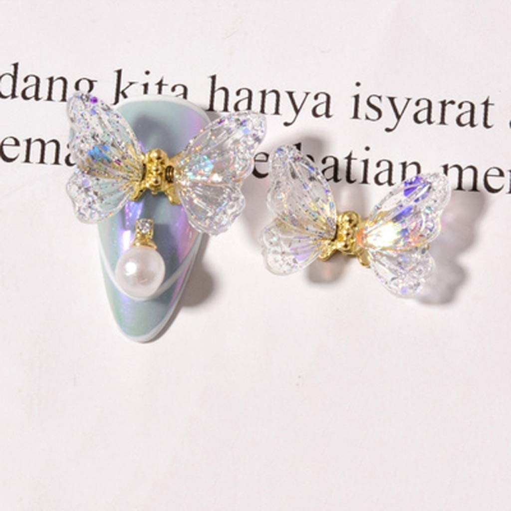 DJASM Mjspl 10 Pcs High material Nail Decorations Art Pendant Butterfly Max 73% OFF Flower