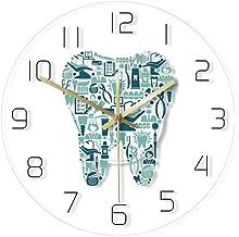 JHJUH Wall Clock Dental Hospital Silent Transparent Wall Clock reloj pared Quartz Needle Tooth Dentistry Modern Watch Teeth Care Print Zegar