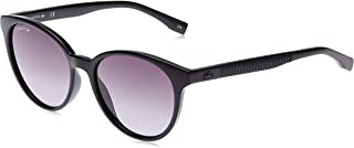 Lacoste Round Sport Inspired Black Sunglasses For Women 54-17-140mm