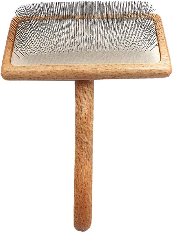 Lj pet brush Bamboo wood dog cat needle comb than small medium and large dog hair needle comb open knot comb
