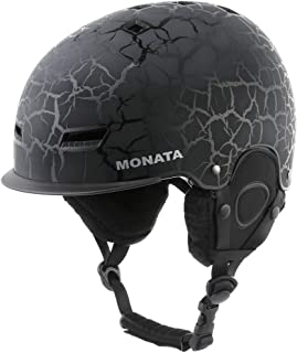 MONATA Adult Ski Snowboard Helmet for Men and Women Winter Snow Sports Protect Adjustable Large Size 23.22 to 24 Inches