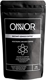ONNOR Instant Genius Nootropic Coffee for Focus, Memory, Brain Health & Cognitive Function