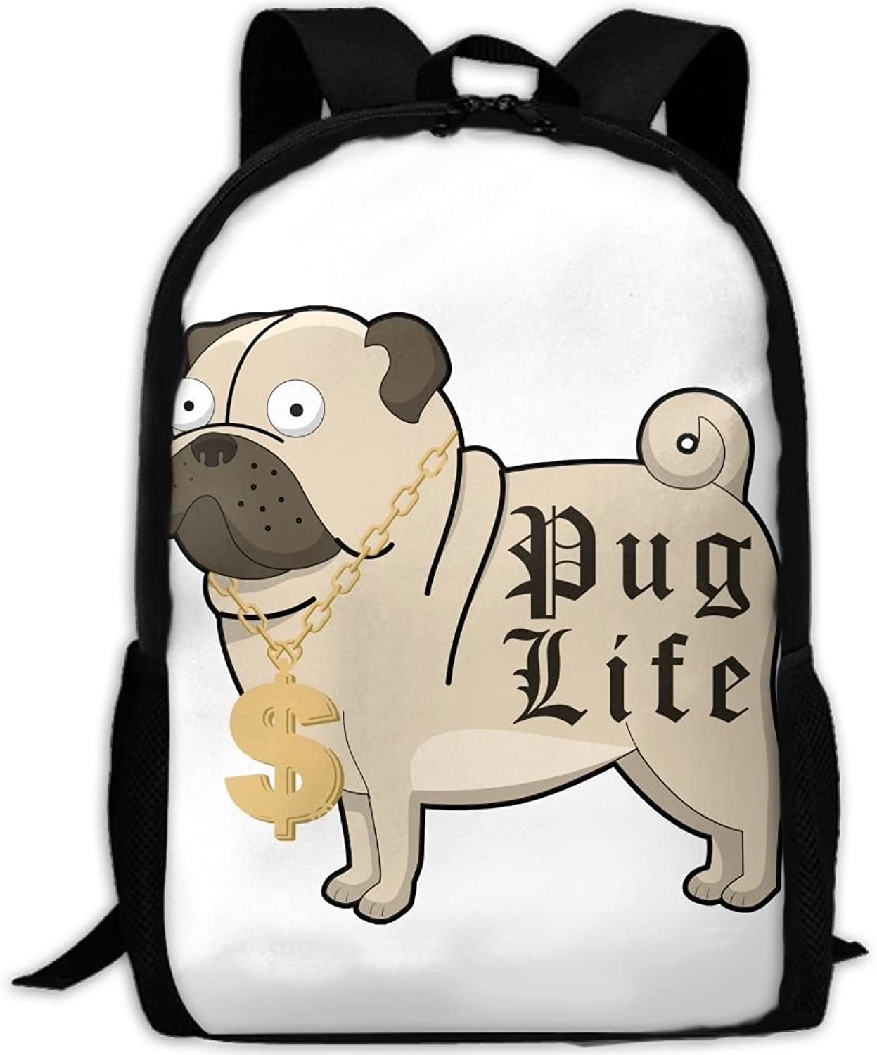 6f8b5f56d Adult Backpack Life Cartoon With gold Chain Necklace College Daypack ...