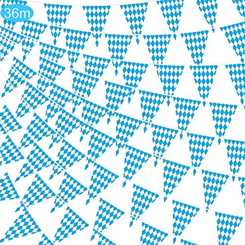 Oktoberfest bávaro banderín Bandera,Adornos de Oktoberfest,Banderas Guirnaldas Oktoberfest,Letrero de Oktoberfest,Decoración de Oktoberfest Suministros de Fiesta de Octoberfest (36M)