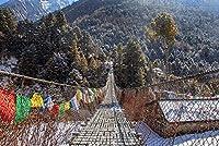 大人のためのネパールヒマラヤ橋ジグソーパズル大人のための1000ピース木製ジグソーパズル