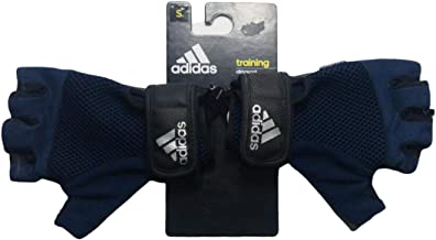 Adidas Half Finger Gloves for Unisex, Blue - S