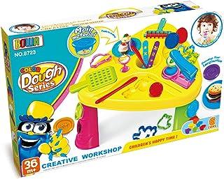 Workshop Theme Play Dough Toy Table Play Clay Set Tools Mold-30pcs