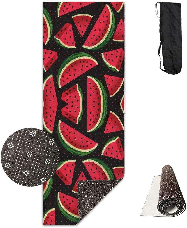 Fruite Watermelon Yoga Mat Towel for Bikram Hot Yoga, Yoga and Pilates, Paddle Board Yoga, Sports, Exercise, Fitness Towel
