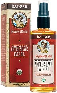 Badger - After-Shave Face Oil, Bergamot & Menthol, Moisturizing Aftershave Oil, Natural After Shave Face Oil for Men, 4 fl...