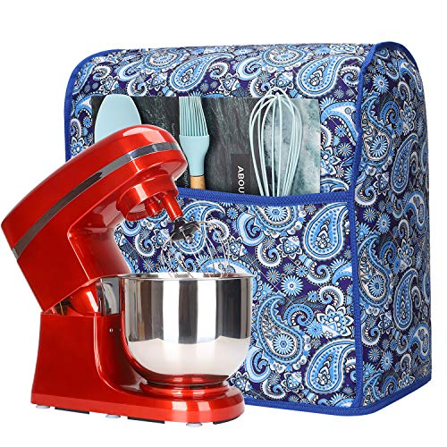 Kitchen Aid Mixer Cover,Stand Mixer Dust Cover for Kitchenaid Hamilton Sunbeam Mixers,Small Appliances Cover with Pockets,Compatible with All 6-8 Quart Tilt Head & Bowl Lift Models