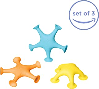 Ubbi Starfish Stretch and Suction Bath Toys – 3 Pack for Toddlers and Baby