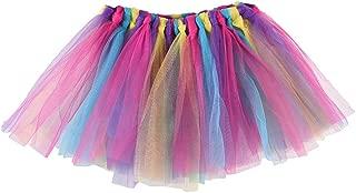 adorabile elastico rosa tutu gonna tre strati strati petticoat ragazza festa tutu dress costume con un carino rosa orecchie da coniglio fascia EQLEF Tutu danza