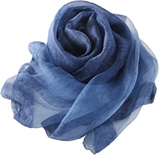 JERPOZ Silk Wool Stitching Two-Color Scarf Scarves, Sunscreen Travel Shawls, Gift Scarves Scarves (Color : E)