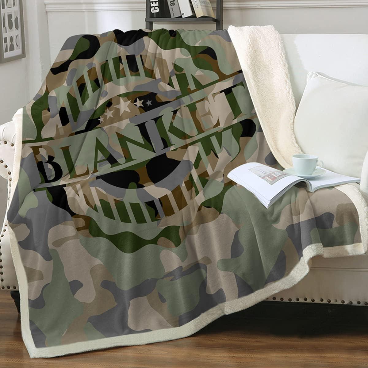 Sleepwish Camo Throw Brand new Ranking TOP16 Blanket King Boys Camouflage 108