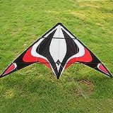 DDYBF Power Stunt Kite de 1,8 m de Doble línea, fácil de Volar y Montar Cometas Grandes, para Principiantes, Juegos al Aire Libre, Actividades, Viaje a la Playa