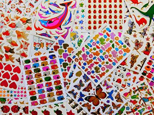 Artisanat Enfants Autocollants collecte de paquet plus de 400 pièces au moins 20 feuilles par SET scintillement métallique