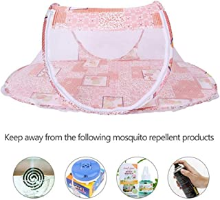 Pop Up Mosquito Netting Bed, Hamkaw 2019 Newest Portable Foldable Baby Travel Bed Summer Tent Infant Newborn Crib Cot Protect from Sun, Mosquitos & Bugs Pink
