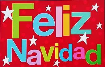 Feliz Navidad - Mucha Felicidad - Merry Christmas Greeting Card in Spanish Espanol (Unisex)