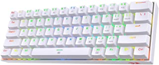 Redragon K630 Dragonborn 60% Wired RGB Gaming Keyboard, 61 Keys Compact Mechanical Keyboard with Tactile Brown Switch, Pro...
