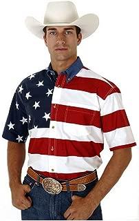 Men's Stars & Stripes Pieced Flag Shirt S/S