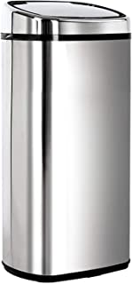 68L Stainless Steel Motion Sensor Rubbish Bin Automatic Trash Can for Home Kitchen Silver
