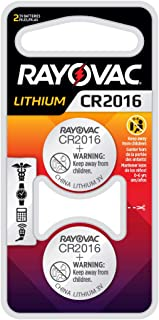 Rayovac CR2016 Battery, 3V Lithium Coin Cell CR2016 Batteries (2 Battery Count), KECR2016-2A
