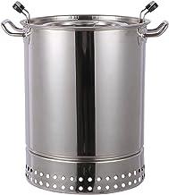 Grilltonne,Edelstahl Holzkohlegrill Portable Campinggrill Abnehmbare BBQ Grills für Outdoor Garten Party 30x42cm