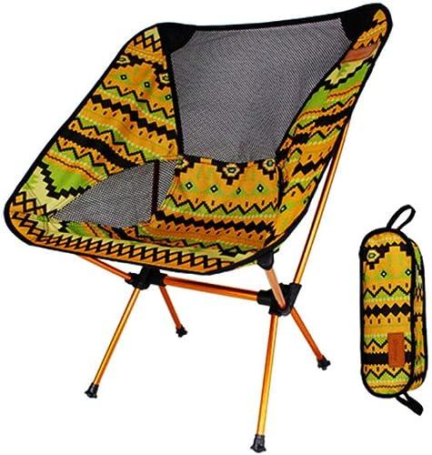 CXYGSJJ Chaise De Camping Chaise De Camping Ultra Légère Chaise De Pêche Pliante - 150 Kg De Capacité De Charge, Chaise D'extérieur Compacte Et portable avec Sac De Transport (Couleur   A)