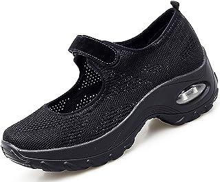 Vorgelen Sandalias Deportivas de Mujer Malla Ligero Plataforma Zapatillas Mary Jane Casual Cómodas Respirable Sneakers par...