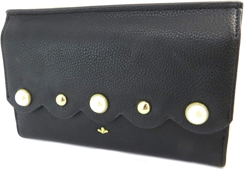 Nica [P3439]  Creative wallet 'Nica' black peas  17.5x11x2 cm (6.89''x4.33''x0.79'').