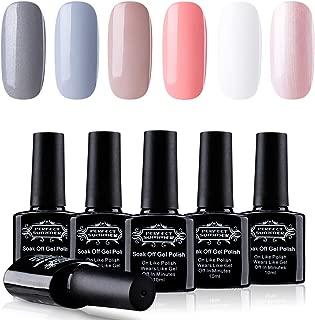 Perfect Summer Pro 6PCS Semi-permanent Gel Nail Polish Color Varnish Soak Off UV LED Home Gel Manicure Gift Set New Arrival, 10ML Each 014