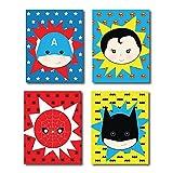 Children Inspire Design Kid's Playroom Decor, Superhero Posters for...