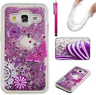 Galaxy G360 Case, Galaxy Core Prime Case, Firefish Slim Dynamic Flowing [Anti-Slip] Flexible TPU [Scratch Resistances] Protective Cover for Samsung Galaxy Core Prime G360 -Butterfly
