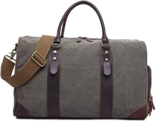 Mens Bag Canvas With Leather Large Capacity Bag Men's Travel Bag High capacity