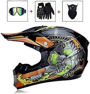 IAMZHL 2020 nuovo casco integrale Casco Casco Moto Racing Capacete Moto Kask Motocross Off Road Touring/-Gloss 1-4-S