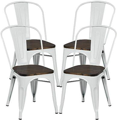 Amazon.com: Abbie Home Tolix Style - Silla de metal para uso ...