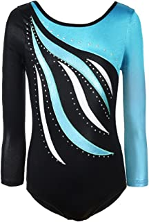 Gymnastics Leotards for Girls Unitard Dance Athletic Leotard Long Sleeves for Girls 4-10 Years