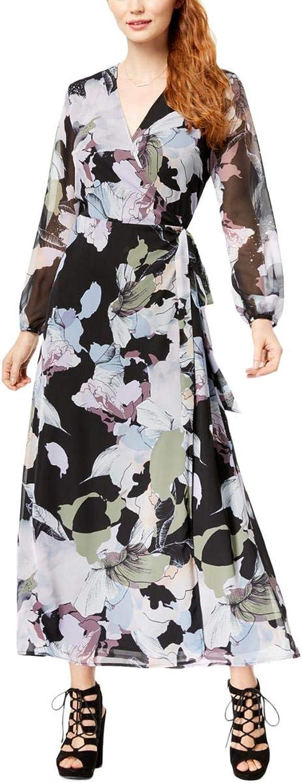 Bar Iii Womens Floral Wrap Dress