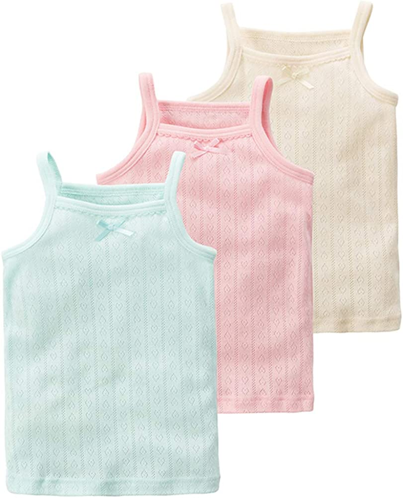 Special Campaign Girl's Camis Tanks Top Ranking TOP11 3 Pack Camisole C 100% Soft Undershirts